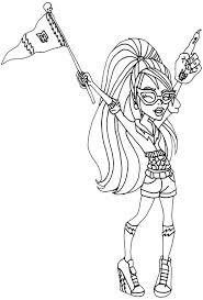 Ghoulia Yelps Feel Very Happy Coloring Pages