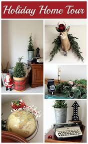 A Holiday House Tour With Lots Of Christmas Decorating Ideas Including Many Vintage Decorations