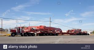 Heavy Hauler Truck Oversize Load Stock Photos & Heavy Hauler Truck ...