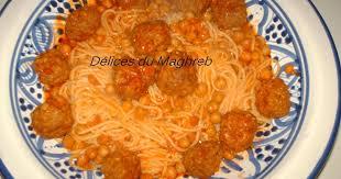 pate a la tunisienne recette spaghettis tunisienne à la boulette de viande à ma façon
