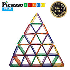 Picasso Magnetic Tiles Uk by Picasso Tiles 100 Piece Set Toytico