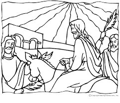 Image Of Palm Leaf Crayon Sun Catcher Jesus Sunday Coloring Page
