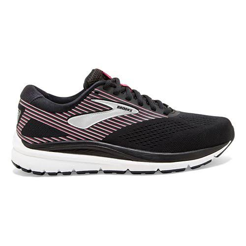 Brooks Women's Addiction 14 Running Shoe -Black/Hot Pink/Silver, 7
