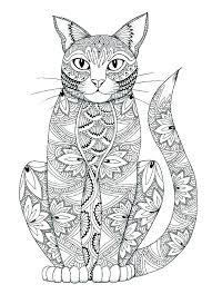 Printable Coloring Pages Cats Page Cat In The Hat Free Noir