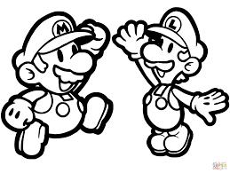 Terrific Mario Coloring Book Paper And Luigi Page