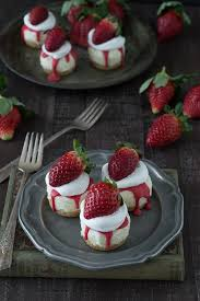 No Bake White Chocolate Strawberry Cheesecakes the perfect cheesecake for Valentine s Day