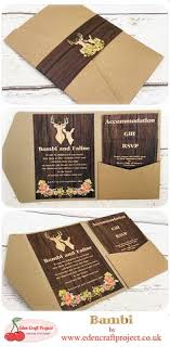 The Disney Inspired Bambi Pocketfold Wedding Invitation Perfect For Rustic Fairytale