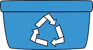 Blue Recycle Bin Clip Art Blue Recycle Bin Image