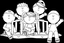 Graphic Transparent Download Black And White Kids On A Merry Library Children At Play Clipart