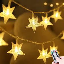lumsworld batteriebetriebene weihnachtsstern lichterkette mit 50 led lichtern wasserdicht für weihnachtsbaum hochzeit schlafzimmer