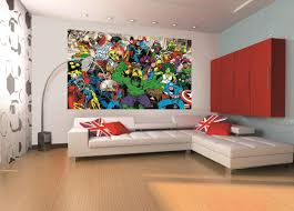 Superhero Wall Decor Stickers by Marvel Mural Marvel Home Decor Wallpaper Wallmural 1wall