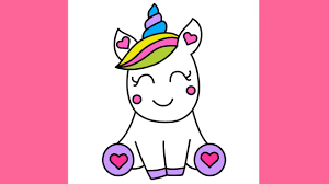How To Draw Super Cute And Easy Unicorn For Kids Step By