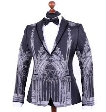 dolce u0026 gabbana runway cathedral print silk blazer tuxedo jacket