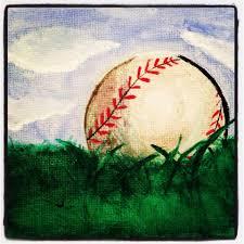 Baseball Painting PaintingMini Canvas ArtPainting