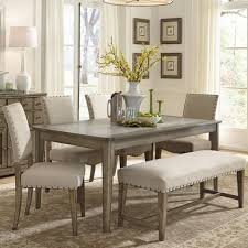 Black Dining Room Sets Lovely Long Wooden Table With Two Legs Placed On The Gray Flooring