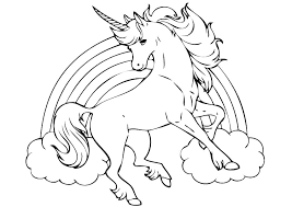Rainbow To Color And Print C7767 Unicorn Picture Page Coloring Pages