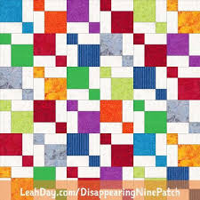 Disappearing Nine Patch Free Quilt Pattern Using Fat Quarters