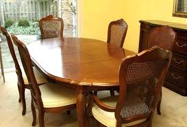 Full Size Of Dining Room Set Table In A Light Finish With Glass Inserts And Six