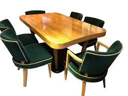Stylish Vintage Room Six Chairs Art Antiques Set Walnut ...