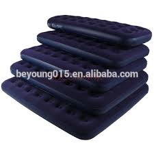 Flocked Coil Beam Air Bed full Size Inflatable Air Bed Mattress