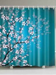 Cherry Blossom Curtain Blue by 2017 Blue Bathroom Shower Curtain Online Store Best Blue Bathroom
