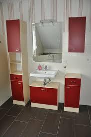 badmöbel set badmöbelset badezimmer waschtisch spiegel bad rot