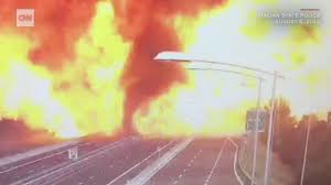 100 Truck Explosion Gas Tanker Explodes On A Highway In Italy CNN Video