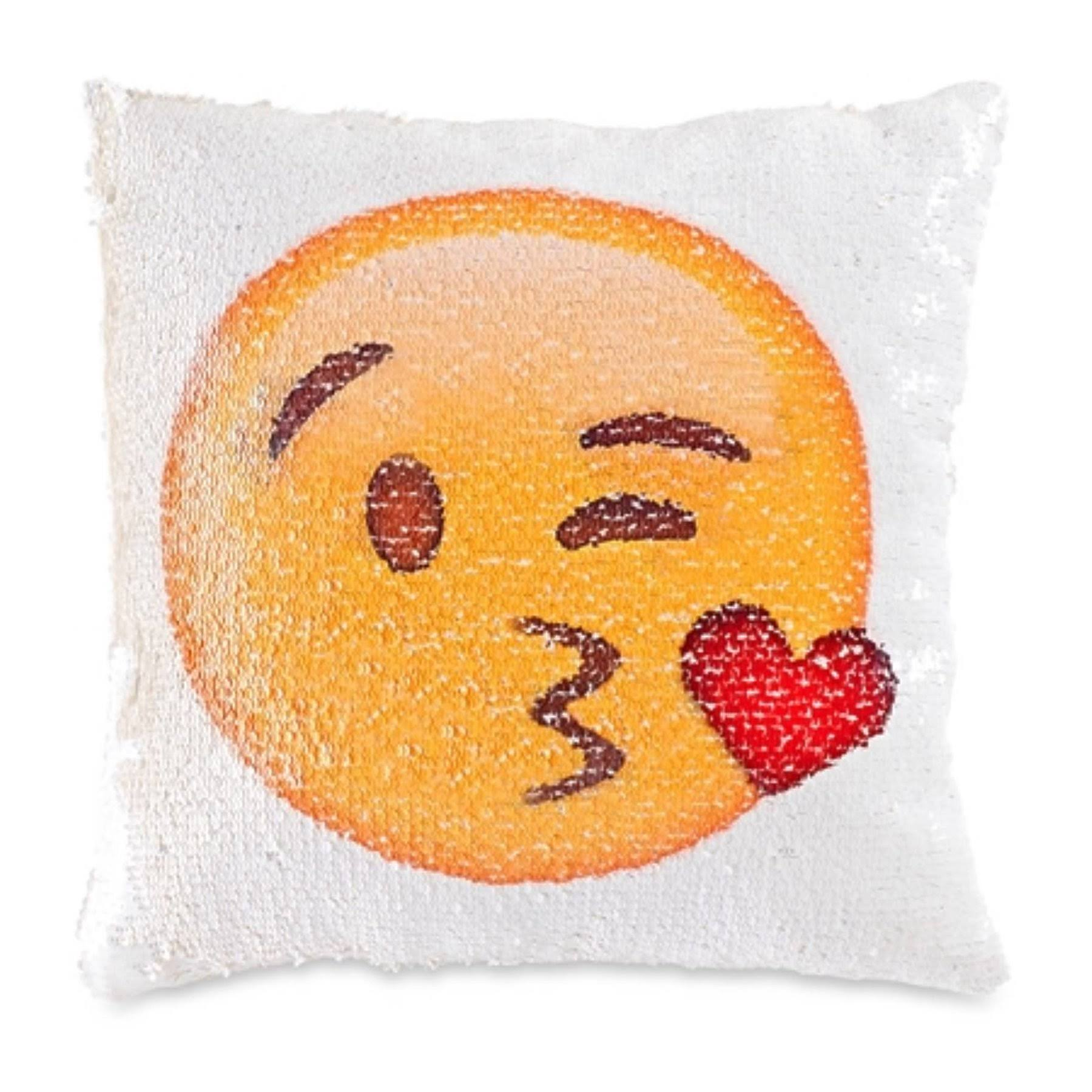 "Top Trenz Emojicon 12"" Flipping Sequin Pillow"