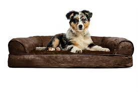furhaven plush suede orthopedic sofa dog bed pet bed ebay