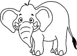 Elephant Coloring Pages Online Zoo Animals Tropical Cartoon Wild Page Hard Mandala For Adults