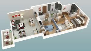 appartement 4 chambres plan appartement 4 chambres 3d