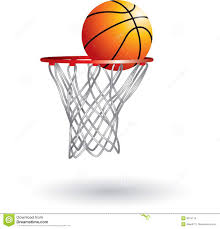 Basketball going into net stock vector Illustration of graphic