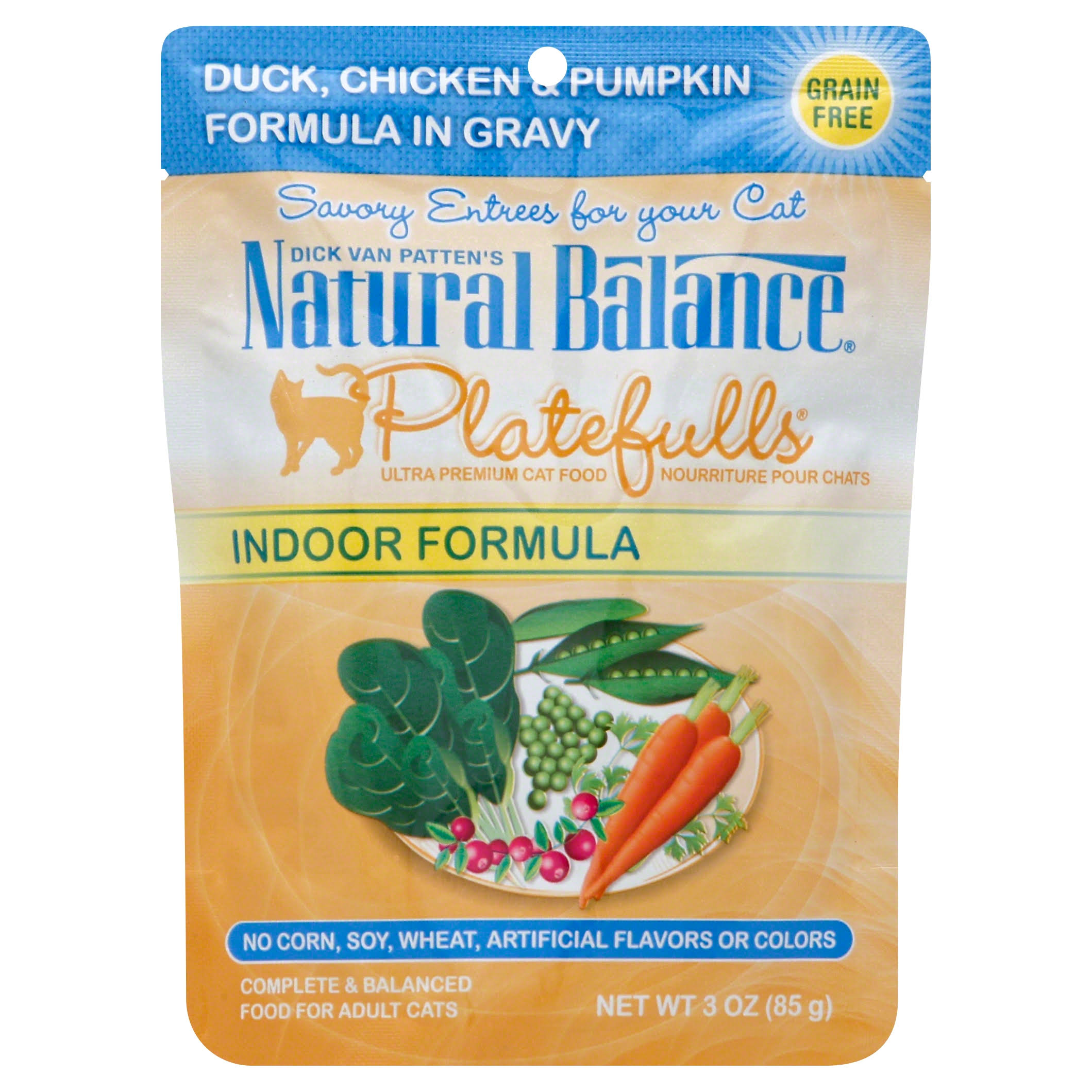 Natural Balance Platefulls Cat Food - Duck Chicken & Pumpkin Formula In Gravy