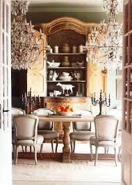 Perfect Thanksgiving French Armoire In The Dining Room