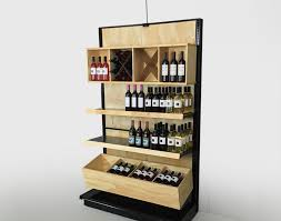 Shelf Black Gondola Shelving With Wood Design Stunning Beer Bottle Display Shelves Liquor Store Acceptable Floor