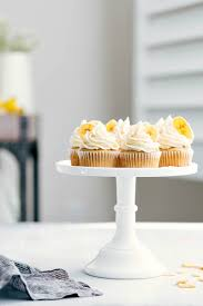 Cake Stand Holding 8 Banana Cupcakes
