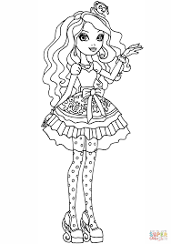 Click The Ever After High Madeline Hatter Coloring Pages