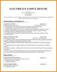 Electrician Sample ResumesElectrician Resume Examples Samples