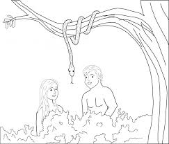 Adam And Eve Coloring Pages For Kids Az