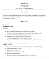 High School Student Resume Objective Examples Of Resumes