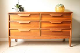 Johnson Carper 6 Drawer Dresser by Mid Century Johnson Carper Double Dresser Vintage Danish Modern