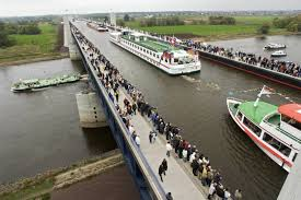 100 Water Bridge Germany Amazing View Of Ships Passing From The Magdeburg