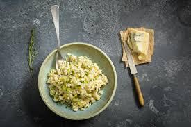 zucchetti risotto mit gorgonzola