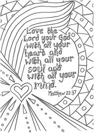 Matt 2237 Love The Lord Your God With All Heart Printable New Prayer Coloring Pages To