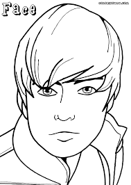 Boy Face Colouring Page