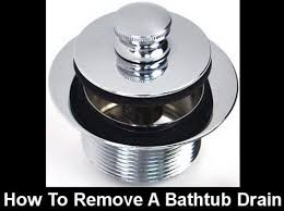 Old Bathtub Drain Stopper Stuck by How To Remove A Push Pull Pop Up Bathtub Drain Assembly