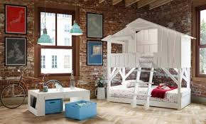Awesome Kids Bedroom With Brick Walls