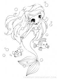 Anime Mermaid Drawing Coloring Pages 4 10