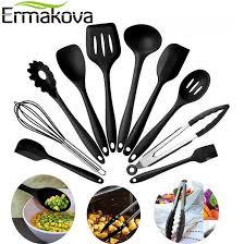 ensemble cuisine ermakova 10 pcs ensemble ustensiles de cuisine en silicone ensemble