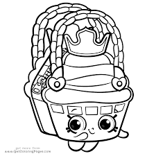 Cute Shopkins Season 8 Coloring Page
